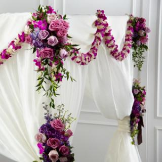 The Color & Light Chuppah Decor