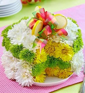 Fresh Flower Cake - Lemon